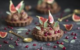 Christmas Tree Chocolate Tart