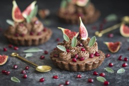 Christmas Tree Chocolate Tart