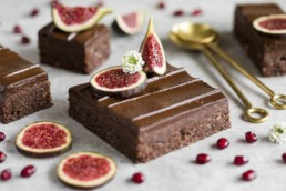Raw Brownies with Avocado Frosting & Figs